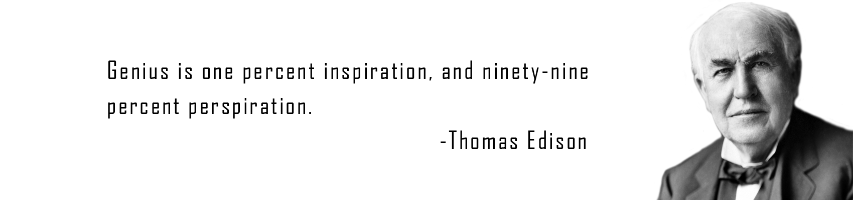 genius is one percent inspiration and ninety nine percent perspiration